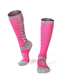 cheap -R-BAO Women's Athletic Sports Socks Ski Socks Camping / Hiking Hunting Ski / Snowboard Cushion Breathability High Elasticity Wool Crew Socks Ski Wear / Winter / Patchwork / Stretchy