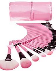 cheap -ehoorayhandle makeup brush set powder foundation blusher cosmetics brushes kit with bag (32 pcs pink)