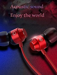 cheap -Type-C Metal Earphones  In-ear Mic Wire Control Bass Magnetic Headset Earphone with Portable Earphone Bags