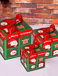 cheap -Christmas Toys Ornaments Christmas Gift Boxes Present Boxes Penguin Elk Christmas Tree Handmade Decoration Party Favors Paper 3 pcs Kid's Adults 15*15 20*20 25*25cm Christmas Party Favors Supplies