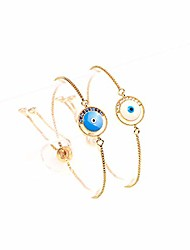 cheap -evil eye bracelet gold plated - faith protection lucky jewelry for women and girls - dainty charm adjustable bracelet with cz for mom