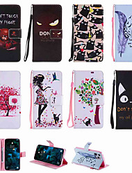 cheap -Phone Case For Samsung Galaxy Full Body Case Leather Wallet Card S20 Plus S20 Ultra S20 S9 S9 Plus S7 edge S7 A8 2018 A8+ 2018 Note 9 Wallet Card Holder with Stand Sexy Lady Tree Animal PU Leather TPU