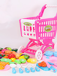 cheap -Toy Car Pretend Play Trolley Toy Vegetables Fruit Shopping Cart Simulation Plastic Kid's Toy Gift
