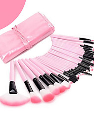 cheap -32 Pink Leather Bag Makeup Brush And Beauty ToolsCcomfortable and Suitable