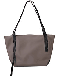 cheap -Women's Bags PU Leather Polyester Tote Top Handle Bag Chain Daily Office & Career 2021 Tote Handbags Black Gray
