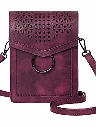 cheap -small crossbody bags for women synthetic leather cell phone purse with card slots(burgundy)