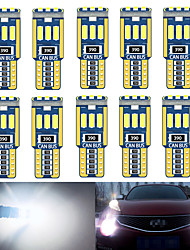 cheap -10PCS W5W T10 car interior light canbus 194 501 led 9 4014 SMD Instrument Lights bulb lamp dome light no error 12V 6000K