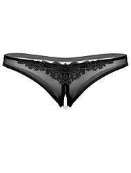 cheap -Women's 1 PC Beaded / Cut Out / Mesh G-strings & Thongs Panties Low Waist White Black Purple One-Size