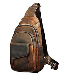 cheap -men outdoor casual travel hiking tea crossbody chest sling bag rig one shoulder strap bag backpack men leather
