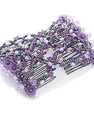 cheap -elastic crystal rhinestone hair clip hair comb ez combs hair flowers magic new (2#)