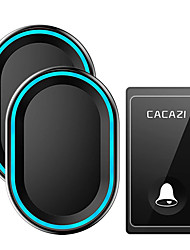 cheap -CACAZI No Battery Required Wireless Doorbell 58 Chimes Self-Powered Waterproof Door bell Intelligent LED Ring Bell