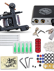 cheap -DRAGONHAWK Tattoo Machine Starter Kit - 1 pcs Tattoo Machines  Professional, Kits, Easy to Install Alloy Mini power supply Case Not Included 1 cast iron machine liner