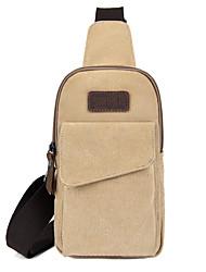 cheap -Unisex Bags Canvas Sling Shoulder Bag Chest Bag Zipper Daily Outdoor 2021 MessengerBag Black Blue Khaki Gray