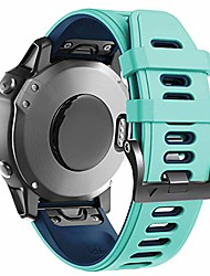 cheap -compatible with fenix 6x bands soft watch straps sport bands replacement for fenix 6x pro/fenix 5x/fenix 5x plus/fenix 3 smartwatches, mint-blue