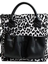 cheap -Women's Bags PU Leather Top Handle Bag Zipper Handbags Outdoor White Khaki Brown