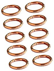 """cheap -10pcs spring clip round carabiner- 1"""" gate o ring round carabiner snap clip trigger spring keyring buckle .organizing accessory/metal secure holder/durable and rust-proof (rose gold)"""
