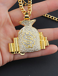 cheap -Men's Boys' Necklace Trendy Alloy Gold 75 cm Necklace Jewelry 1pc For Gift Birthday Party