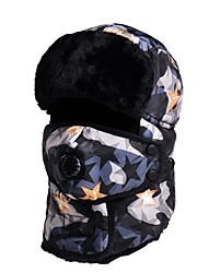 cheap -KORAMAN Women's Men's Hiking Hat Ski Mask Hiking Cap Winter Sports Thermal Warm Windproof Skiing Polyester Skull Cap Beanie Ski Wear / Camo / Camouflage / Stars