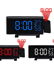 cheap -TS-5210 Projection LED Alarm Clock New Creative Digital Clock with Radio Snooze and Timer LED Temperature Display FM Radio and Three Colors