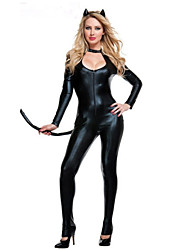 cheap -Women's Sex Zentai Suits Cosplay Costume Catsuit Solid Colored Leotard / Onesie / Spandex