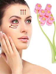 cheap -Facial Massager Roller Portable Flower Shape Anti Wrinkle Face-Lift Slimming Face Relaxation Beauty Tools
