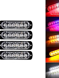 cheap -4pcs LED Integrated Car Light Bulbs 18 W 24 LED Warning Lights For universal All years
