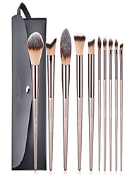 cheap -makeup brushes set 10 pcs cosmetic brushes with tote bag premium synthetic for foundation blending blush powder blush concealers eye shadows brushes kit