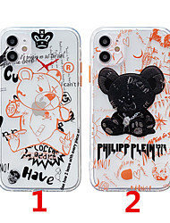 cheap -Case For Apple Scene Map iPhone 12 12 Pro 11 Pro Max Fine Hole Contrast Button Series Cartoon Graffiti Text Pattern Thick TPU Material I Mobile Phone Case OS