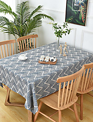 cheap -Thick Waterproof Tablecloth Square Tablecloth Decorative Kitchen Rectangular Tablecloth Wave 1 pc