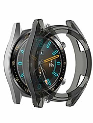 cheap -for huawei watch gt2 46mm, clear ultra thin tpu protector bumper watch frame full case cover scratch-proof shock-proof protective shell for huawei watch gt2 46mm (black)