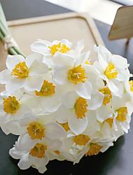 cheap -6Pcs Artificial Flowers Display Bridal Bouquet Home Decor Wedding Party Simulation Flowers