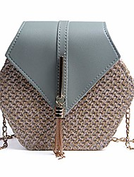 cheap -straw tassel woven crossbody bags, chain fringed small square bag,fashion handbag and purses