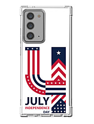 cheap -Holiday American / USA Case For Samsung Galaxy S21 Galaxy S21 Plus Galaxy S21 Ultra Unique Design Protective Case Shockproof Back Cover TPU