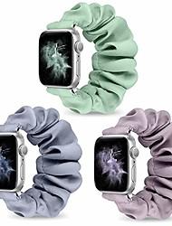 cheap -watch band compatible for apple watch band 44mm 42mm 40mm 38mm women girls, elastic fabric wristband replacement band compatible with iwatch series 6 5 4 3 se 2 1(3pcs-b,42mm/44mm-m)