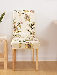 cheap -1 Piece Floral Print Stretch Removable Washable Short Dining Chair Covers, Dining Room Chair Protector Seat Slipcover for Hotel,Banquet,Wedding,Party