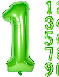 cheap -40 inch green large numbers 0-9 birthday party decorations helium foil mylar big number balloon digital
