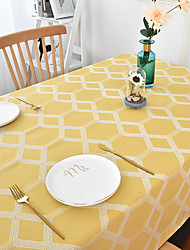 cheap -Thick Waterproof Tablecloth Square Tablecloth Decorative Kitchen Rectangular Tablecloth Geometric 1pc