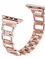cheap -compatible with apple watch band 44mm series 6 5 4 iwatch band wristband strap iphone watch band stainless steel metal with bling rhinestones for women(42mm/44mm, series 5/4 aluminum case gold)