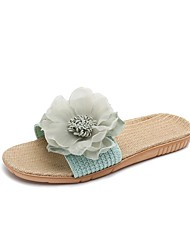 cheap -Women's Slippers House Slippers Casual Linen Shoes