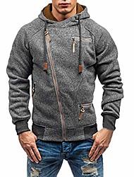 cheap -mens slim fit hoodie color block pullover hooded sweatshirt outwear hoodies with kanga pocket dark gray