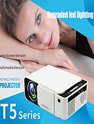 cheap -Mini Projector T5 Projector with Synchronize Smart Phone Screen 800*480 Native Resolution 1080 HD Portable Video Projector WIFI Reay USB HDMI SD Audio Beamer for Home Cinema