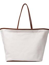 cheap -Women's Bags Canvas Tote Top Handle Bag Zipper Daily Handbags Baguette Bag White Black Khaki