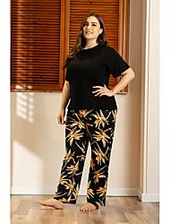 cheap -Women's Home Polyester Loungewear Graphic XL Black