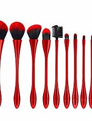 cheap -makeup brushes- makeup brush set xiaoman waist nylon bristles abs brush tube brush rod make up brush kits, 3 colors, 10 pcs (color : red, size : 10 pcs)