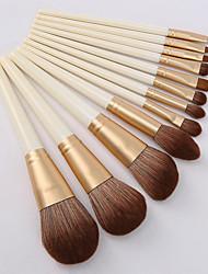 cheap -Huayang Yuyu series 12 makeup brushes set for beginners foundation eye shadow brush soft hair powder brush factory direct sales