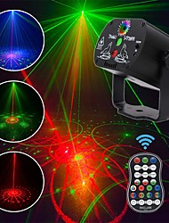 cheap -60 Patterns LED Disco Light Christmas Laser Projector Party Light USB Rechargeable RGB Stage Light for Home DJ Halloween Show