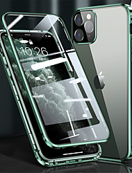 cheap -Phone Case For Apple Full Body Case Flip iPhone 12 Pro Max 11 SE 2020 X XR XS Max 8 7 Flip Magnetic Camera Lens Protector Solid Color Tempered Glass Metal