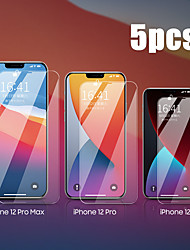 cheap -5PCS Tempered Glass For iPhone 12 11 Pro Max 12 Mini Protective Films For iPhone 12 11 X XS MAX XR SE 2020 8 7 6 Plus 5 se Full Cover Screen Protector Tempered Glass