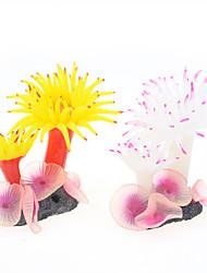 cheap -Fish Tank Aquarium Decoration Fish Bowl Coral White Cute Special Material 1 9*8*7 cm