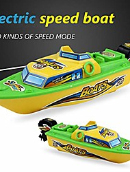 cheap -speed boat toy, kids summer mini electric speed boat bathing shower water play game toy gift green